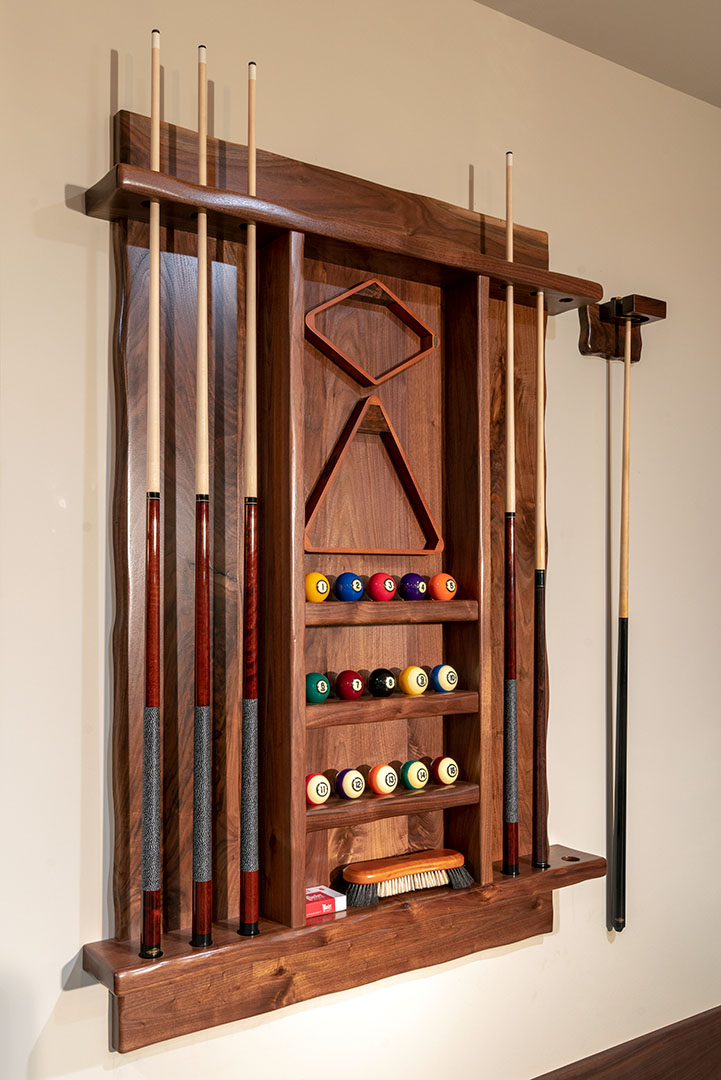 Custom Pool Cue Rack