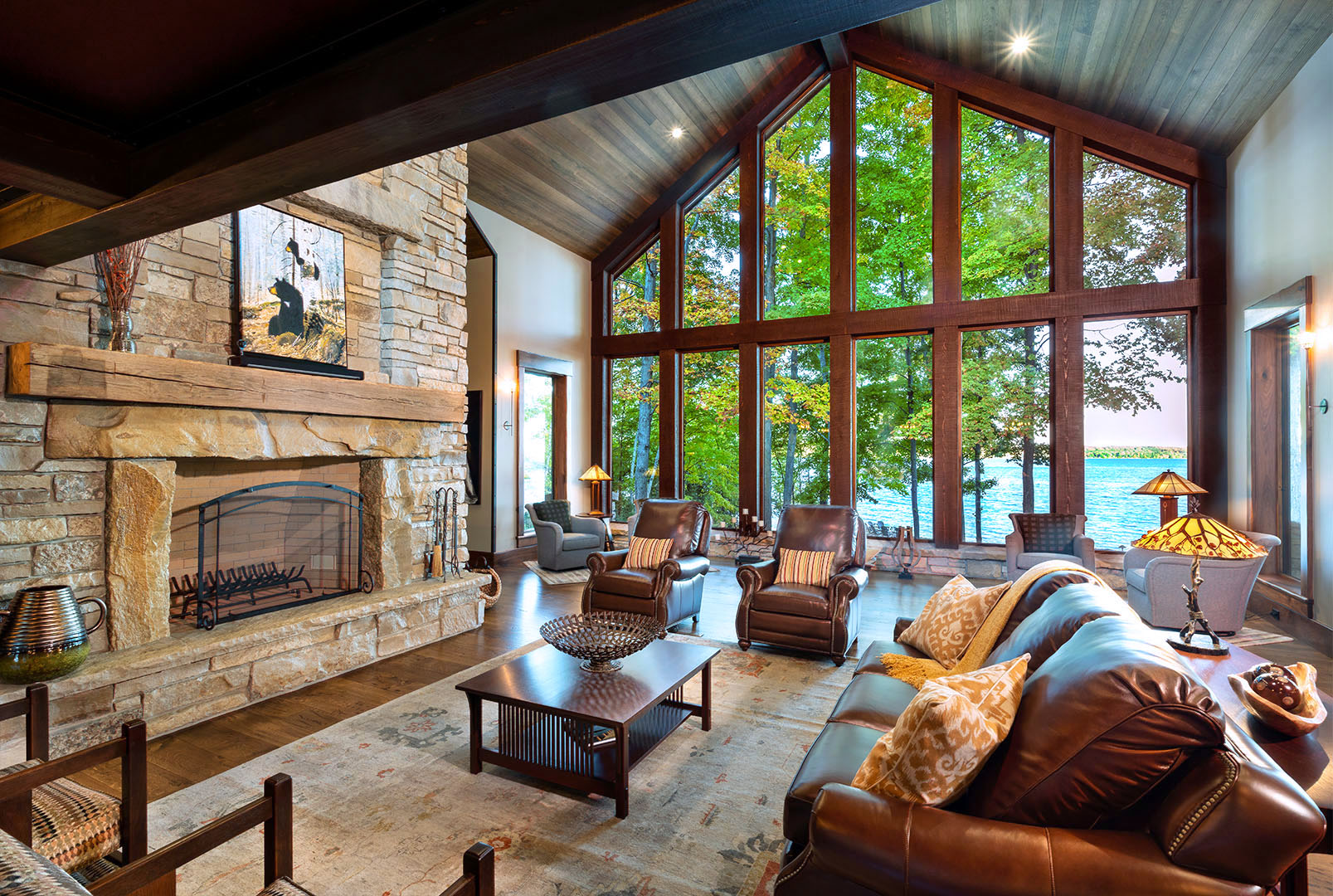 Great Room with Lake View