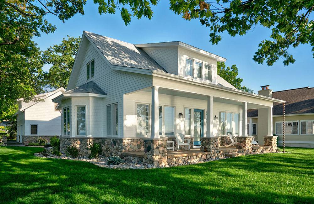 Cottage rennovations torch lake builder design build for Building a house in michigan