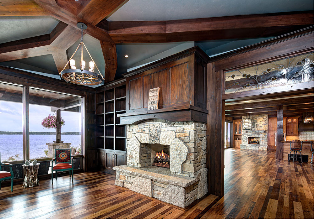 Rustic custom home on Torch Lake