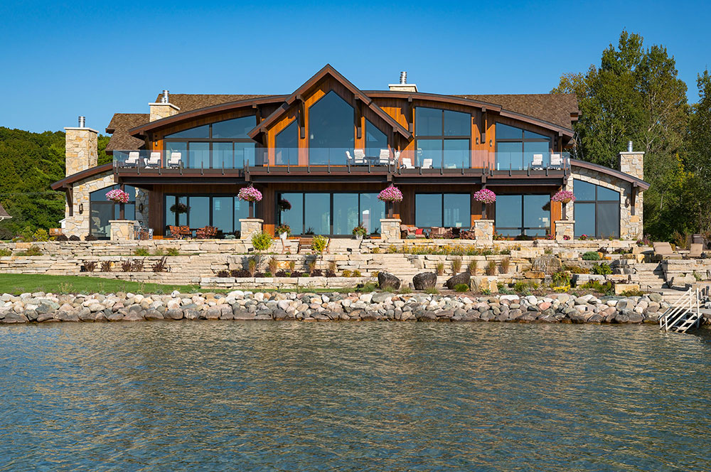 Custom home on Torch Lake