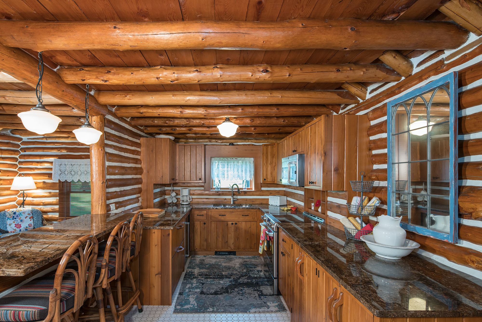 Remodeled Log Cabin Kitchen