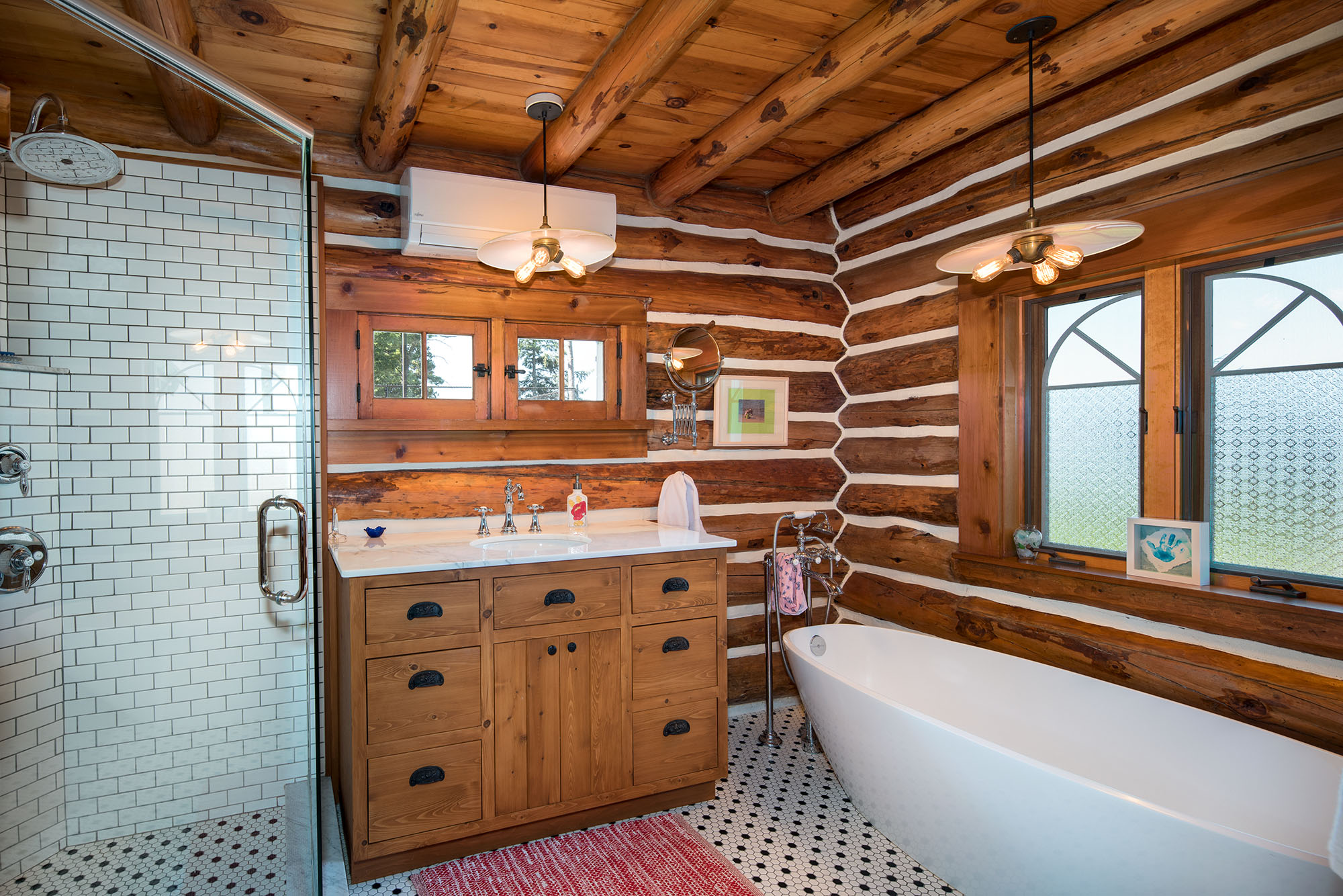 Bathroom Renovation Full Log Interior